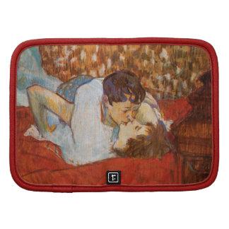 The Kiss - Vintage Art by Toulouse-Lautrec Organizer