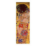 The Kiss Vintage Bookmark by Gustav Klimt Double-Sided Mini Business Cards (Pack Of 20)