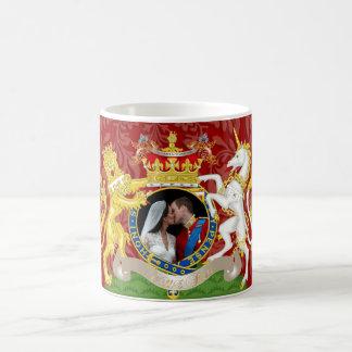 The kiss, Will+Kate wedding, DIY color!! Classic White Coffee Mug