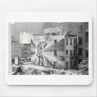 The Kissers photograph mural, Highline NYC Mouse Pad