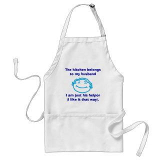 The kitchen belongs to my husban... adult apron