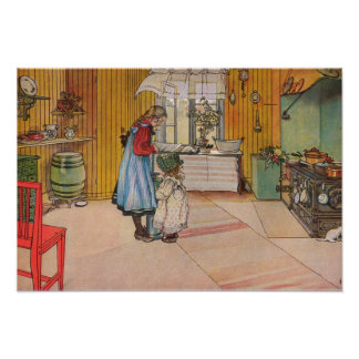 The Kitchen by Carl Larsson, 1898 Poster