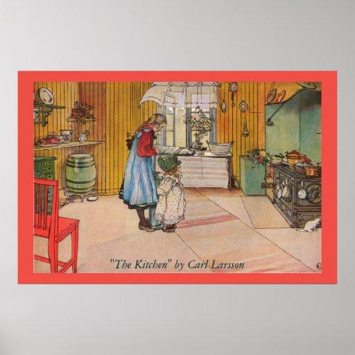 """""""The Kitchen"""" by Carl Larsson Art Print"""