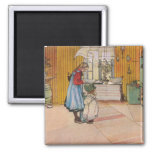 """""""The Kitchen"""" by Carl Larsson Art Print Refrigerator Magnets"""