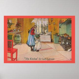 The Kitchen by Carl Larsson Art Print