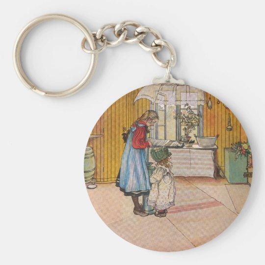 The Kitchen by Carl Larsson Swedish Artist Keychain