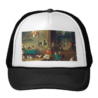 The Kitchen by David Teniers the Younger Trucker Hat
