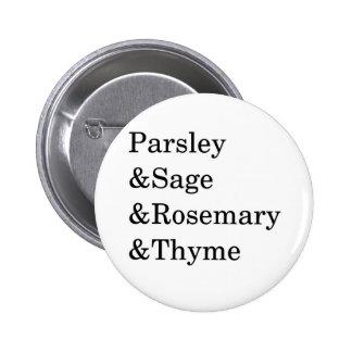 The Kitchen Four Typography Design Pinback Button