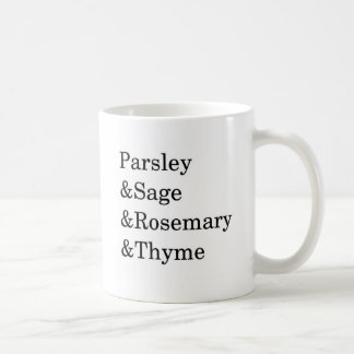 The Kitchen Four Typography Design Mugs