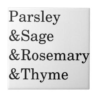 The Kitchen Four Typography Design Ceramic Tiles