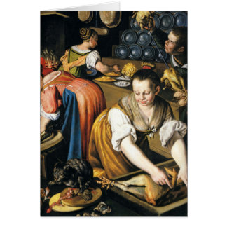 The Kitchen in detail by Vincenzo Campi Card
