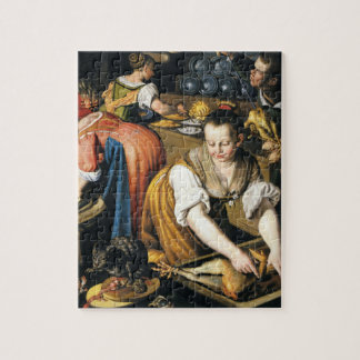 The Kitchen in detail by Vincenzo Campi Jigsaw Puzzle