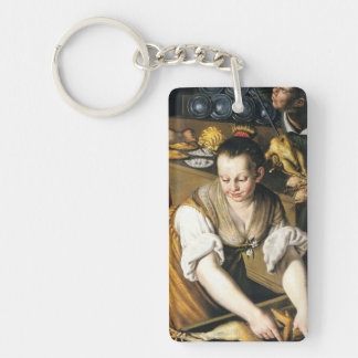 The Kitchen in detail by Vincenzo Campi Keychain