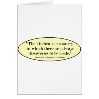 """The Kitchen is a """"Country... Greeting Card"""