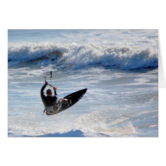 the kite surfer stationery note card