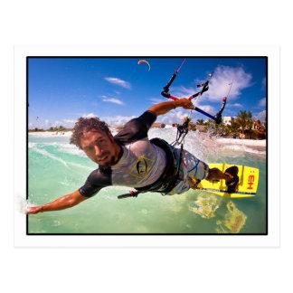 The Kitesurfer Postcard