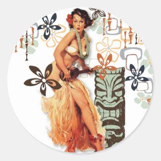 The Kitsch Bitsch : Aloha Oops! Classic Round Sticker