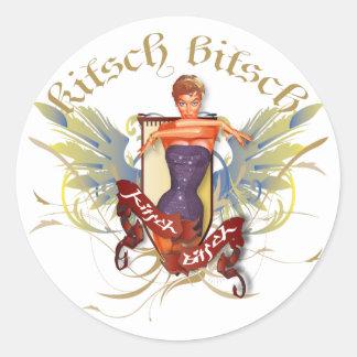 The Kitsch Bitsch : Bathing Beauty Tattoo Pin-Up Classic Round Sticker