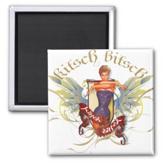 The Kitsch Bitsch : Bathing Beauty Tattoo Pin-Up 2 Inch Square Magnet
