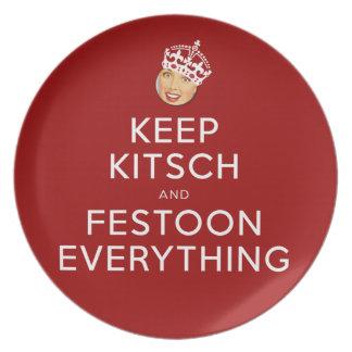 The Kitsch Bitsch©:  Be Kitsch and Festoon! Dinner Plates