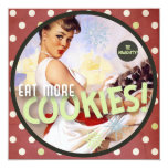 The Kitsch Bitsch : Be Naughty! Eat More Cookies! 5.25x5.25 Square Paper Invitation Card
