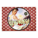 The Kitsch Bitsch : Be Naughty! Eat More Cookies! 3.5x5 Paper Invitation Card