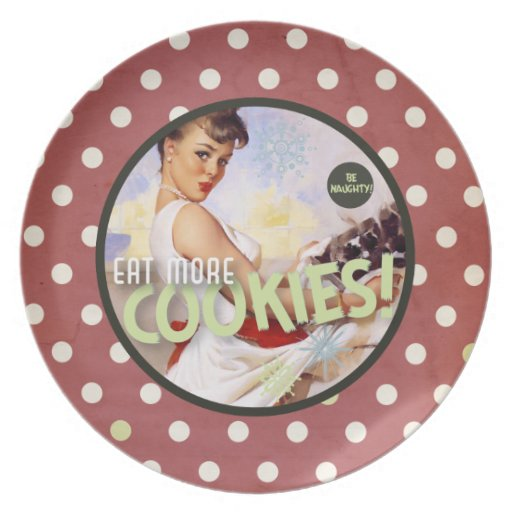 The Kitsch Bitsch : Be Naughty! Eat More Cookies! Plate