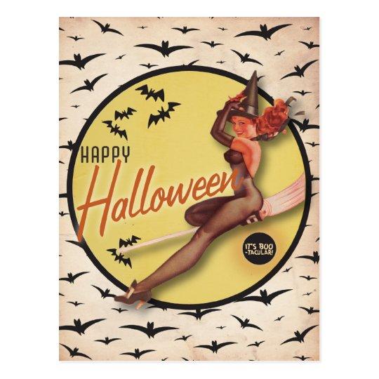 The Kitsch Bitsch : Boo-Tacular Retro Halloween Postcard