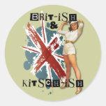 The Kitsch Bitsch : Brit-ish & Kitsch-ish Pin-Up Round Sticker