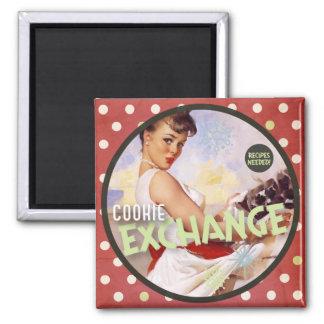 The Kitsch Bitsch : Cookie Exchange 2 Inch Square Magnet