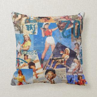 The Kitsch Bitsch : Cowgirl Pin-Ups No.1 & No. 2 Pillow