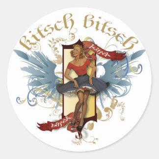 The Kitsch Bitsch : Dancing Doll Tattoo Pin-Up Classic Round Sticker
