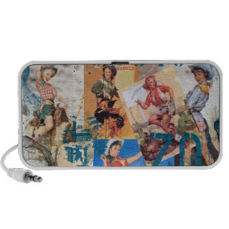 The Kitsch Bitsch : Destroyed Cowgirl Pin-Ups #1 Travel Speakers