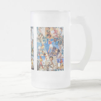 The Kitsch Bitsch : Destroyed Cowgirl Pin-Ups 16 Oz Frosted Glass Beer Mug