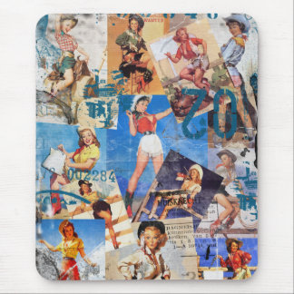 The Kitsch Bitsch : Destroyed Cowgirl Pin-Ups No.1 Mouse Pad