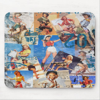 The Kitsch Bitsch : Destroyed Cowgirl Pin-Ups No.1 Mouse Pads