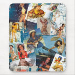 The Kitsch Bitsch : Destroyed Cowgirl Pin-Ups No.2 Mouse Pad