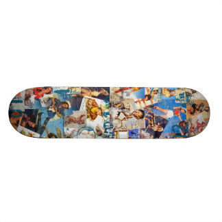 The Kitsch Bitsch : Destroyed Cowgirl PIn-Ups Skateboard Deck