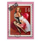 The Kitsch Bitsch : First Class Valentine Pin-Up Card