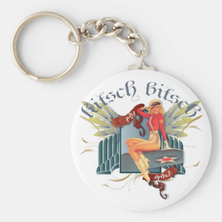 The Kitsch Bitsch : Fly Girl Tattoo Pin-Up Keychain