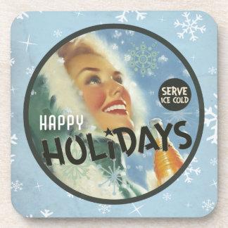 The Kitsch Bitsch : Happy Holidays Beverage Coaster