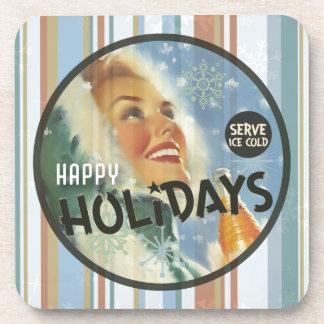 The Kitsch Bitsch : Happy Holidays Coaster