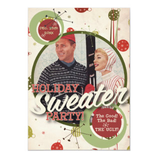The Kitsch Bitsch : Holiday Sweater Party! Card at Zazzle