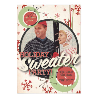 The Kitsch Bitsch Holiday Sweater Party Invites