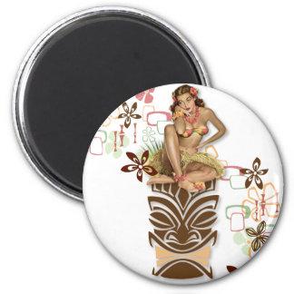 The Kitsch BItsch : Hula Hips! 2 Inch Round Magnet