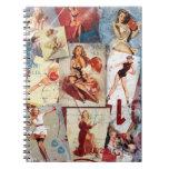 The Kitsch Bitsch : Love Pin-Up Collage 1 Spiral Note Book