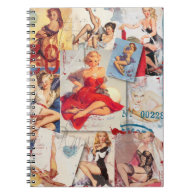 The Kitsch Bitsch : Love Pin-Up Collage 2 Notebook