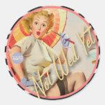 The Kitsch Bitsch : Not Wed Yet! Classic Round Sticker
