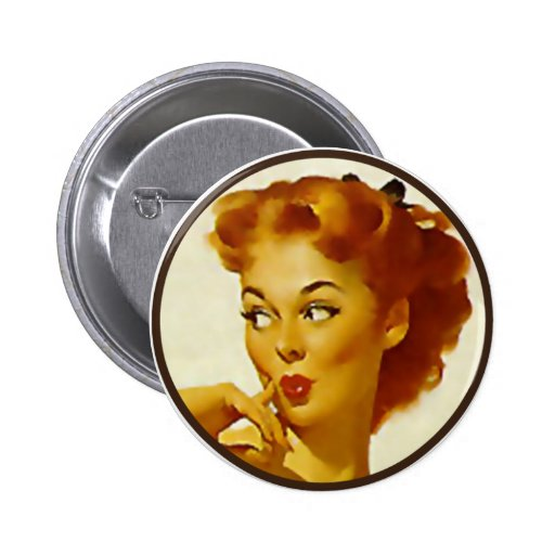 The Kitsch BItsch : Pin-Up Portraits Button