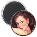 The Kitsch BItsch : Pin-Up Portraits Fridge Magnet